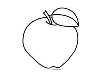 Apple Craftivity: Articulation Black & White, Print & Go Craft!