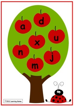 Apple Crunch - Matching upper and lowercase letters - REVISED