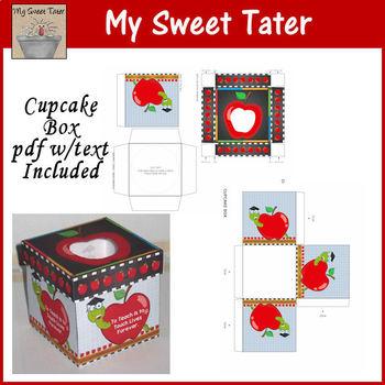 Apple Cupcake Box Printable