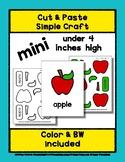 Apple - Cut & Paste Craft - Mini Craftivity for Pre-K & Ki