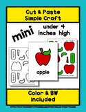 Apple - Cut & Paste Craft - Mini Craftivity for Pre-K & Ki