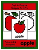 Apple - Cut & Paste Craft - Super Easy Perfect for Pre-K &
