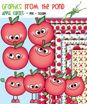 Apple Cuties - Clipart for Teachers and Classrooms