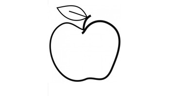 Apple Cutout for Activities