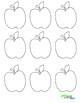 Apple Cutouts (Black and White)
