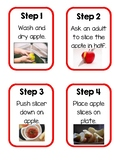 Apple Cutting Task Cards for Practical Life Activity Montessori