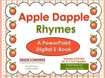 Apple Poetry PowerPoint & eBook:  Apple Dapple Rhymes for