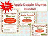 Apple Poetry Unit:  Apple Dapple Rhymes Printables & Power