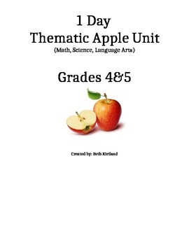 Apple Day! Thematic Unit