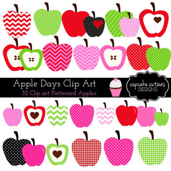 Apple Days Digital Clip Art Digital Graphics -Commercial Use