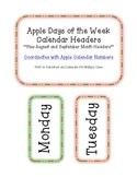 Apple Days of the Week Calendar Headers