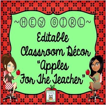 Classroom Decor Apple Editable