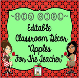 Classroom Decor Apple Editable