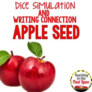 Apple Writing Activity Dice Simulation