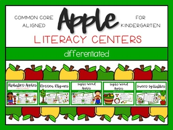 Apple Differentiated Literacy Centers