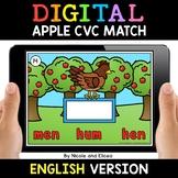 Apple Digital CVC Word Work for Google Classroom 2 - Dista