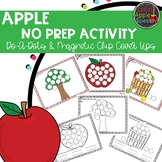 Apple No Prep Activity: Do-A-Dots and Magnetic Chip Cover Ups