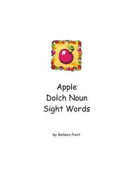Apple Dolch Nouns Sight Words eBook