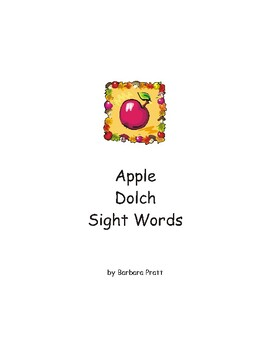 Apple Dolch Sight Words eBook (5 lists)