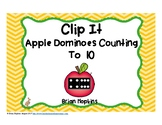 Apple Dominoes To 10 Clip It