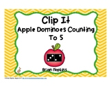 Apple Dominoes To 5 Clip It