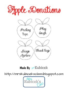 Apple Donations Beginning of the Year