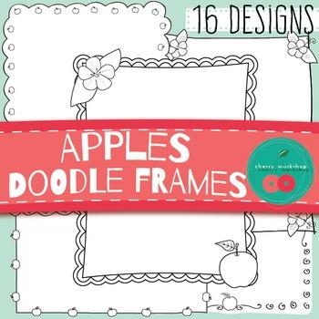 Apple Doodle Borders