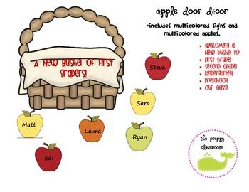 Apple Door Decor
