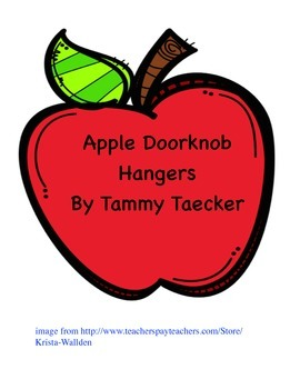 Apple Doorknob Hangers