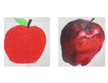 Apple Drawings for Comparison - Imagination vs. Observation