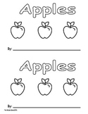 Apple Emergent Reader Book ** Perfect for Read to Self & B