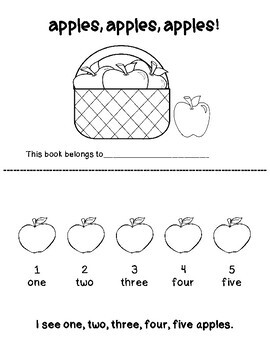 Apple Emergent Readers With Bonus Worksheets!!