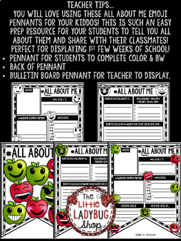 Back to School Writing Activity- All About Me 3rd Grade, 4th Grade, 2nd Grade