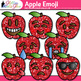 Apple Emoji Clip Art {Back to School Emoticons and Smiley Faces for Brag Tags}