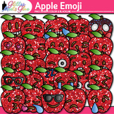 Apple Emoji Clip Art {Back to School Emoticons and Smiley