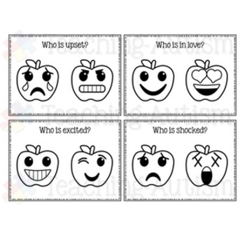 Apple Emoji Feelings / Emotions Task Cards