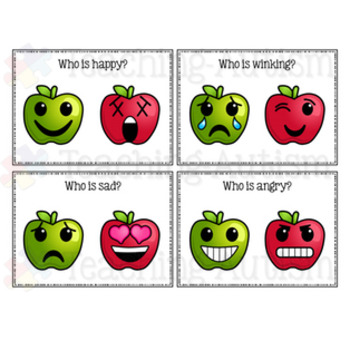 Feelings and Emotions Apple Task Cards