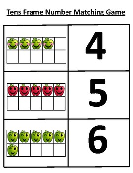Apple Emoji Ten Frames