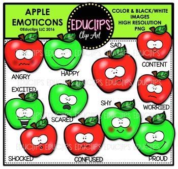 Apple Emoticons Clip Art Bundle  {Educlips Clipart}
