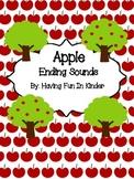 Apple Ending Sounds Activity