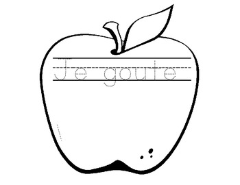 Apple Exploration for French Immersion Grade 1