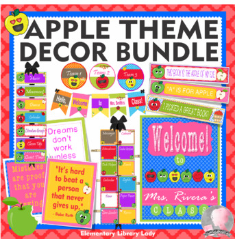Apple Faces Apples Theme Classroom Decor - BUNDLE
