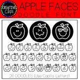 Apple Faces Doodle FONT {Creative Clips Clipart}