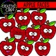 Apple Faces: School Clipart {Creative Clips Clipart}