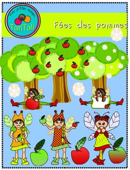 Apple Fairies: Cliparts
