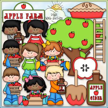 Apple Farm - CU Clip Art & B&W Set