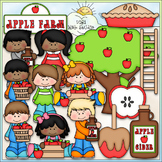 Apple Farm - CU Clip Art & B&W Set