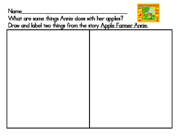 Apple Farmer Annie Activities