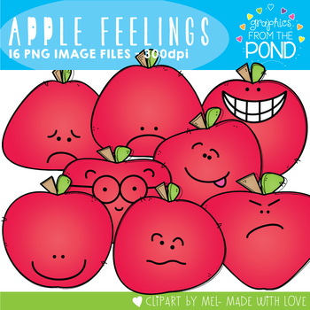 Apple Feelings Clipart