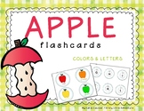 Apple Flashcards for Preschool Assessment - Colors & Letters